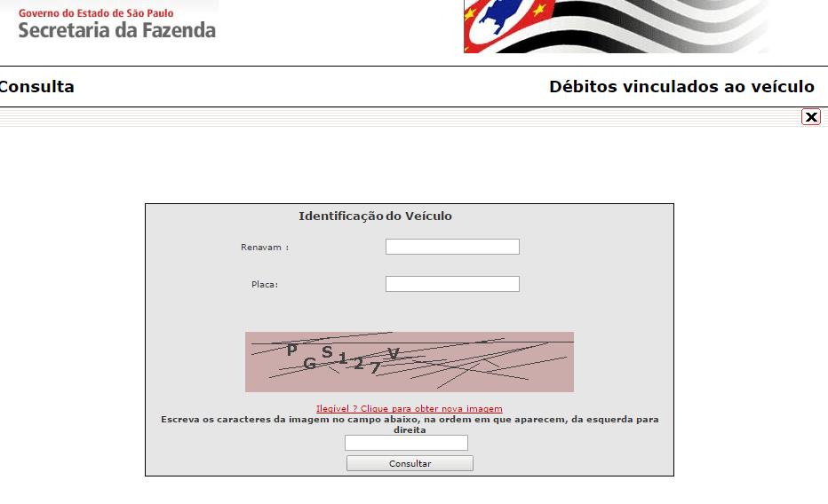 Consulta IPVA São Paulo